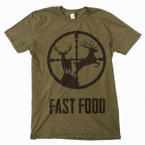 Deer Hunting Fast Food T Shirt M